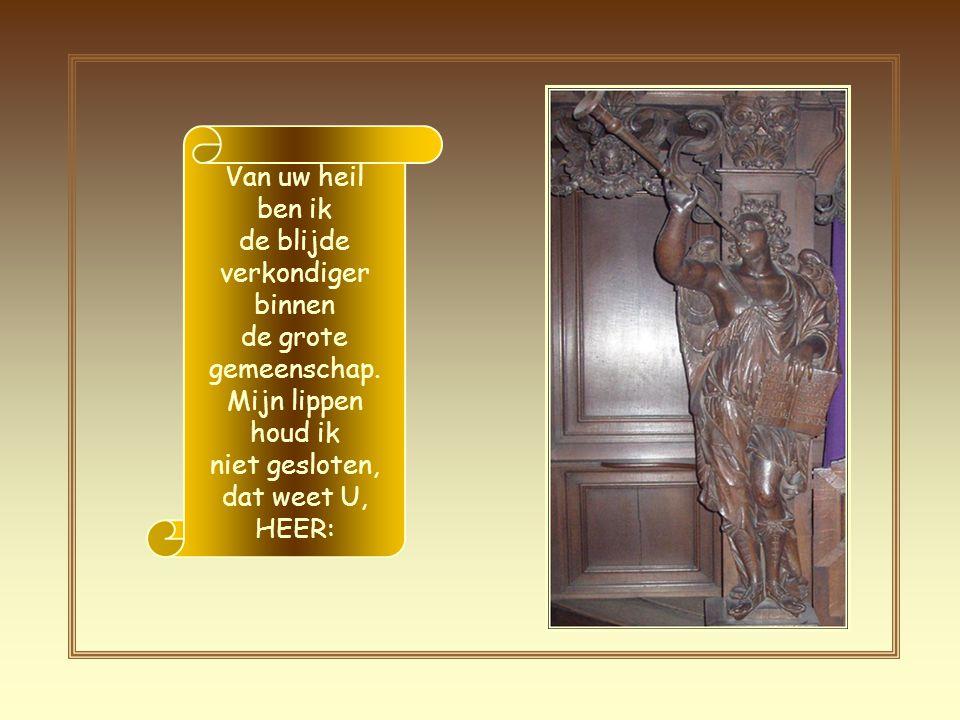 Daarom zeg ik: `Hier ben ik, ik sta klaar'; over mij staat in de boekrol geschreven: `Uw wil uitvoeren, mijn God, is alles wat ik wens, uw Wet is voor