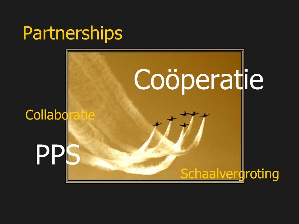 Partnerships Coöperatie PPS Schaalvergroting Collaboratie
