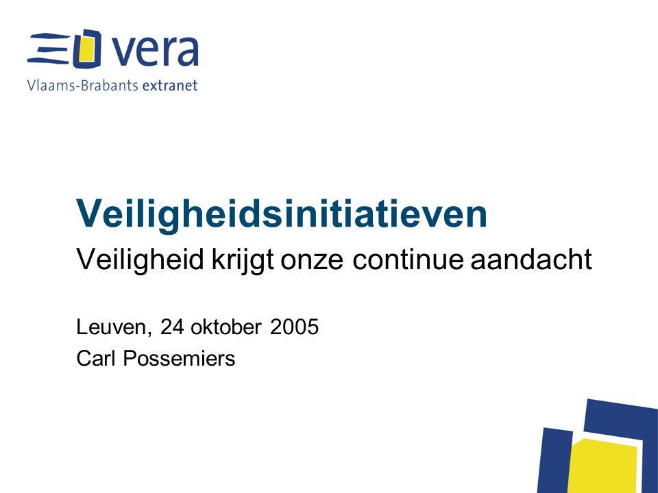 Veiligheidsinitiatieven Veiligheid krijgt onze continue aandacht Leuven, 24 oktober 2005 Carl Possemiers