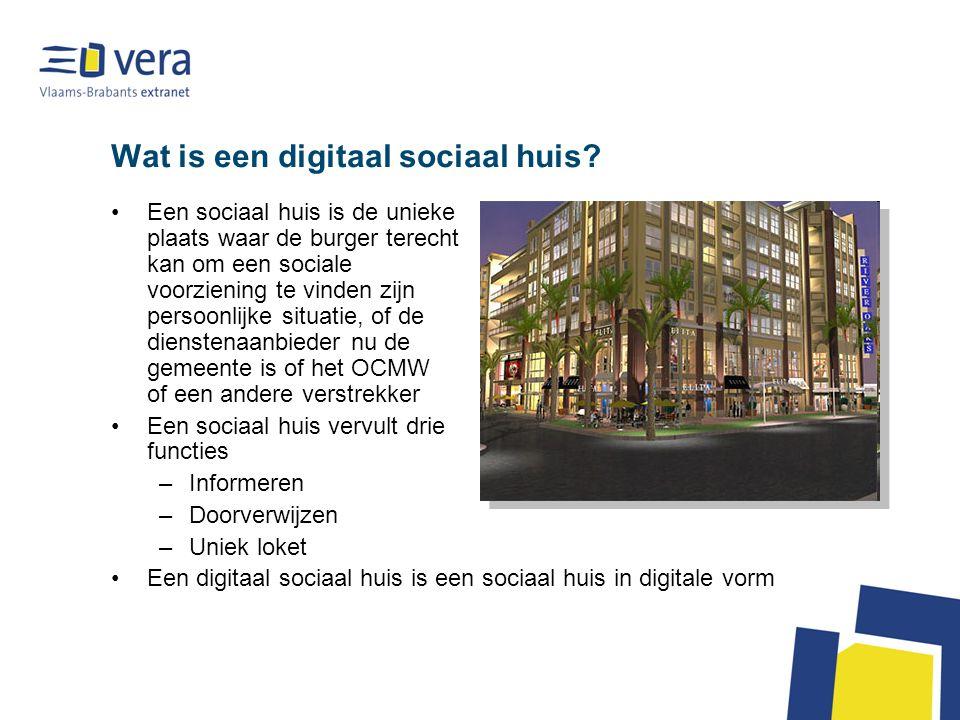 Wat is een digitaal sociaal huis.