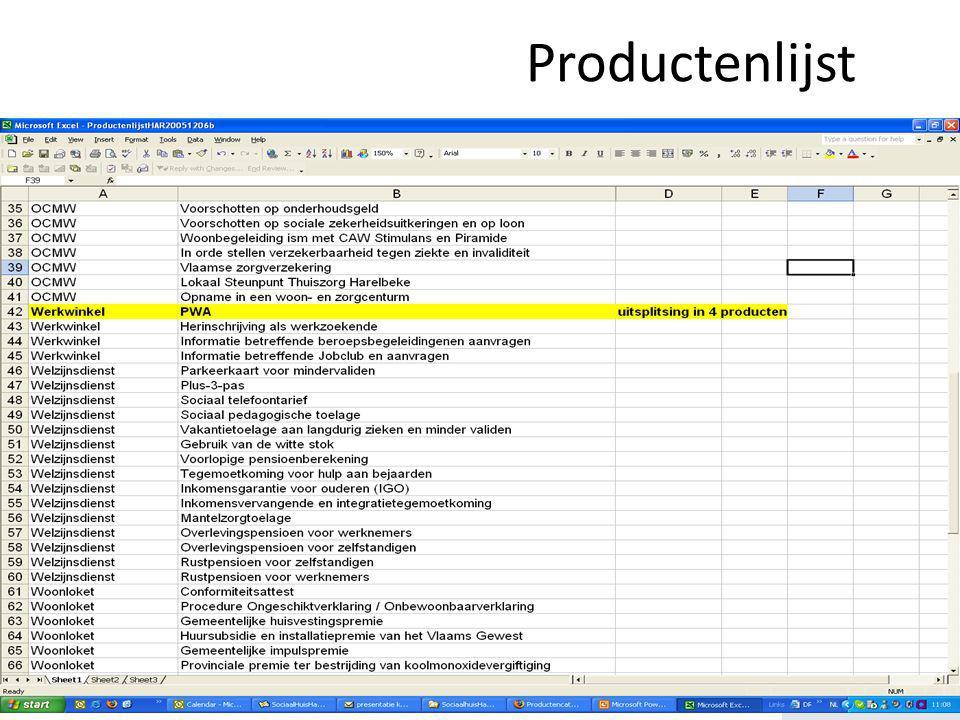www.productencatalogus.be Productenlijst