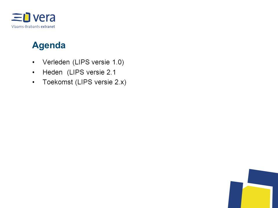 Agenda Verleden (LIPS versie 1.0) Heden (LIPS versie 2.1 Toekomst (LIPS versie 2.x)