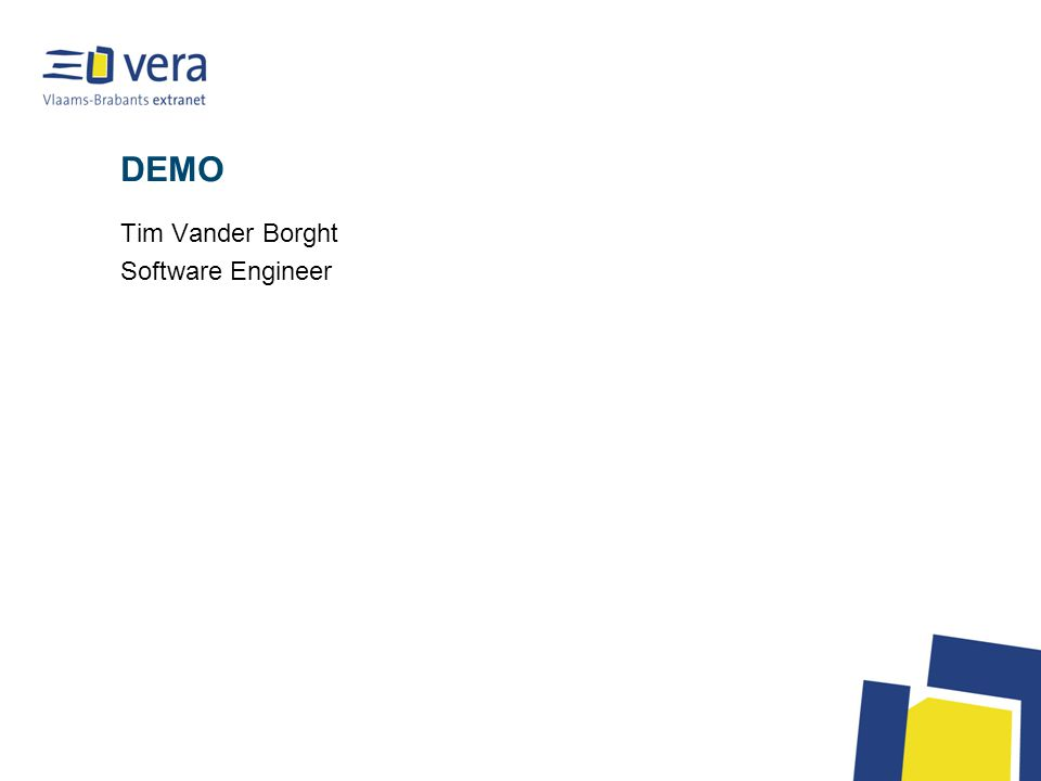 DEMO Tim Vander Borght Software Engineer
