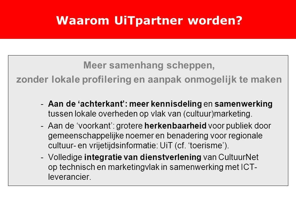 Waarom UiTpartner worden.