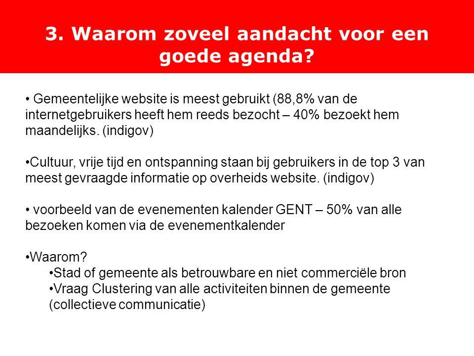 3. Waarom zoveel aandacht voor een goede agenda.