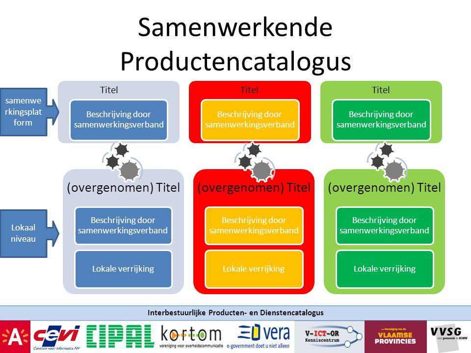 Interbestuurlijke Producten- en Dienstencatalogus Samenwerkende Productencatalogus Titel Beschrijving door samenwerkingsverband Titel Beschrijving doo