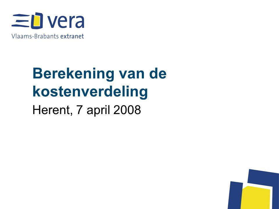 Berekening van de kostenverdeling Herent, 7 april 2008