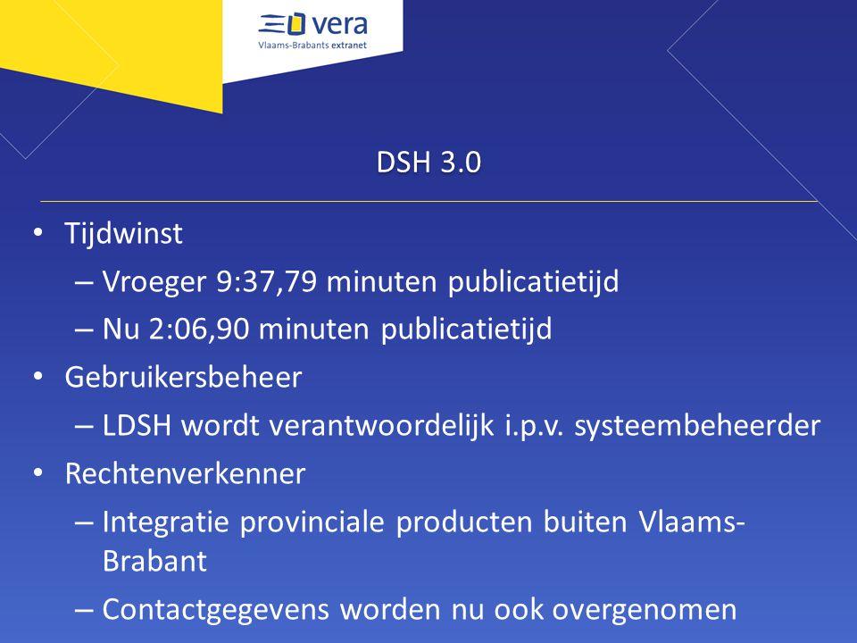 DSH 3.0 Doelgroepen – Instappunten per pagina – van 01/01/2011 t/m 31/08/2011 => 0,39% zoekt via doelgroepen BestuurInstappuntenGezocht via doelgroep Aarschot532913 Halle26437 Rotselaar263111 Dilbeek222820 Totaal1283151