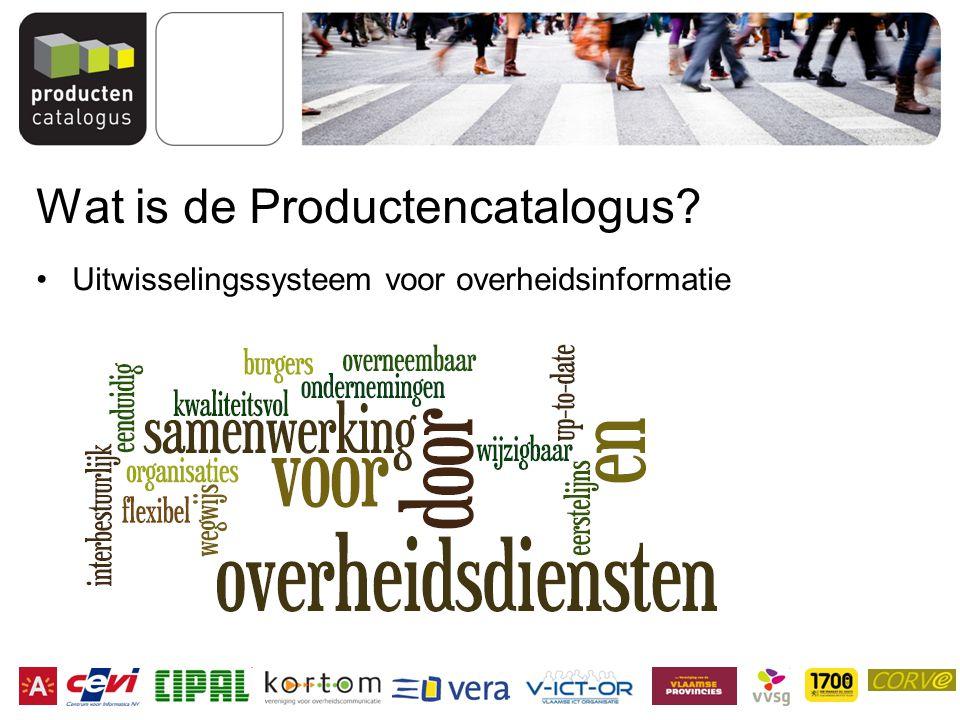 Wat is de Productencatalogus? Uitwisselingssysteem voor overheidsinformatie