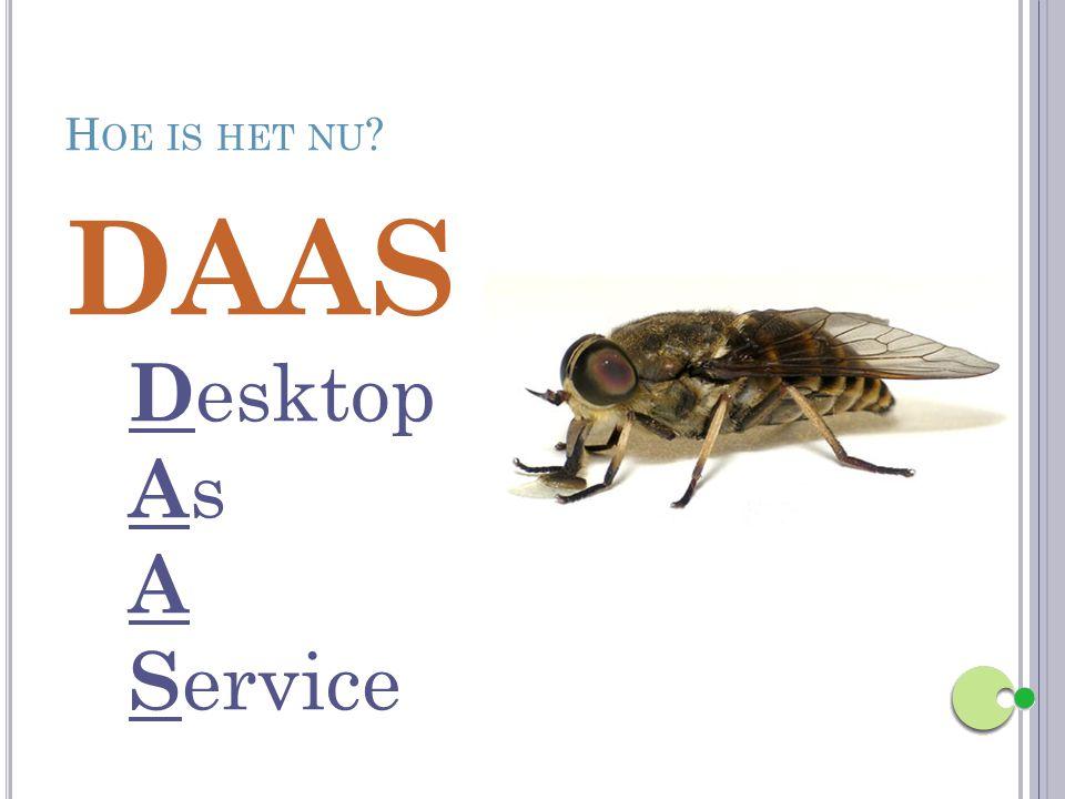 H OE IS HET NU ? DAAS D esktop A s A S ervice