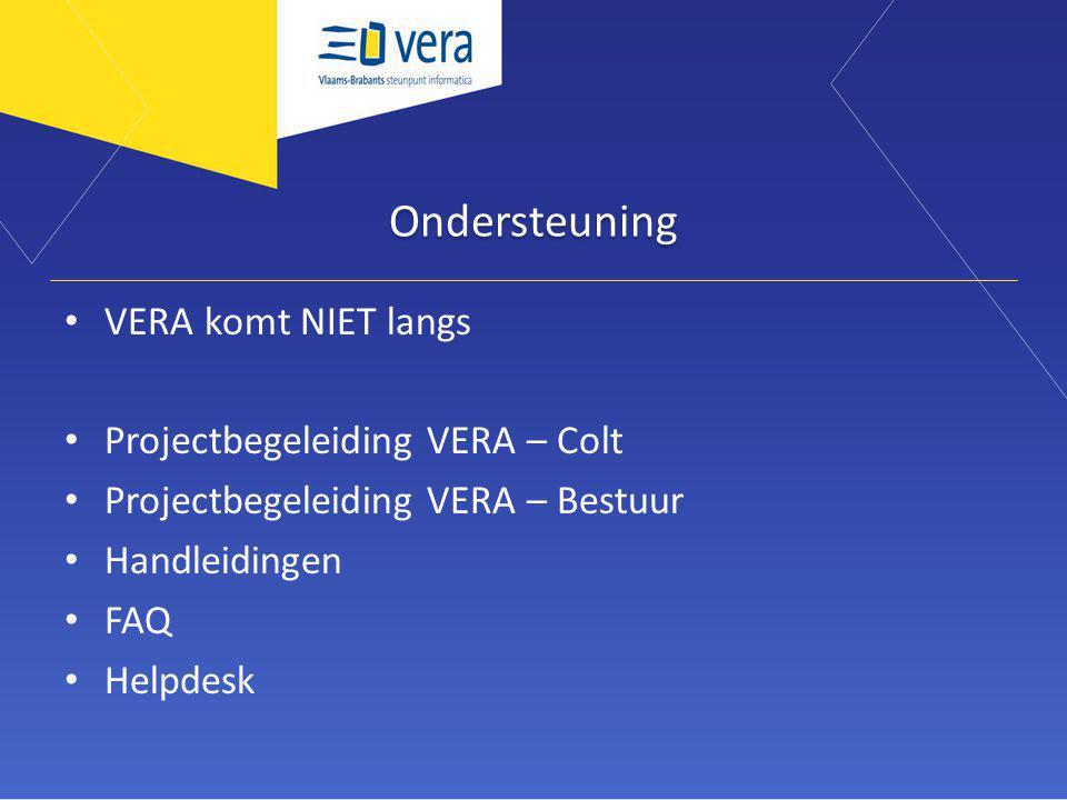 Ondersteuning VERA komt NIET langs Projectbegeleiding VERA – Colt Projectbegeleiding VERA – Bestuur Handleidingen FAQ Helpdesk