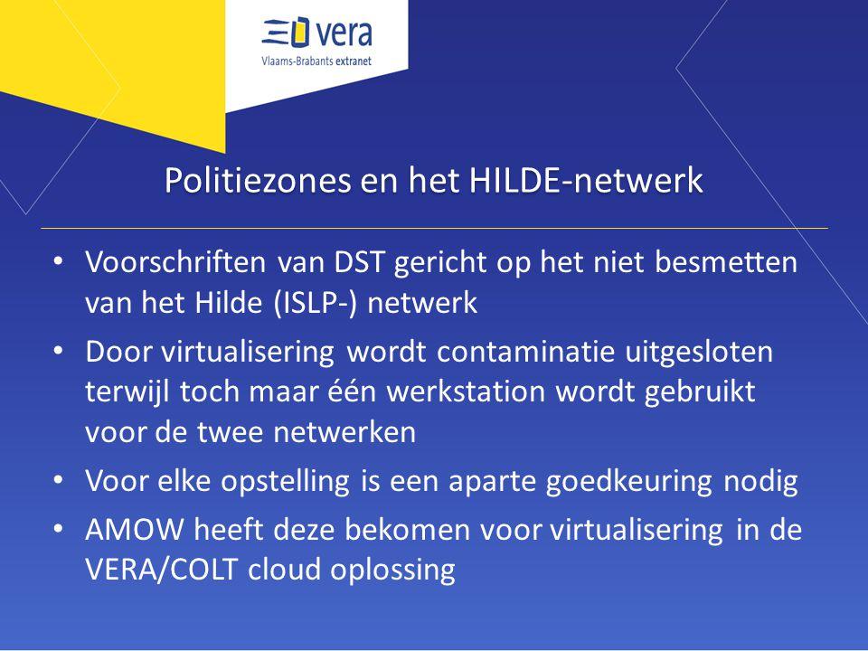 Politiezones en het HILDE-netwerk Voorschriften van DST gericht op het niet besmetten van het Hilde (ISLP-) netwerk Door virtualisering wordt contamin