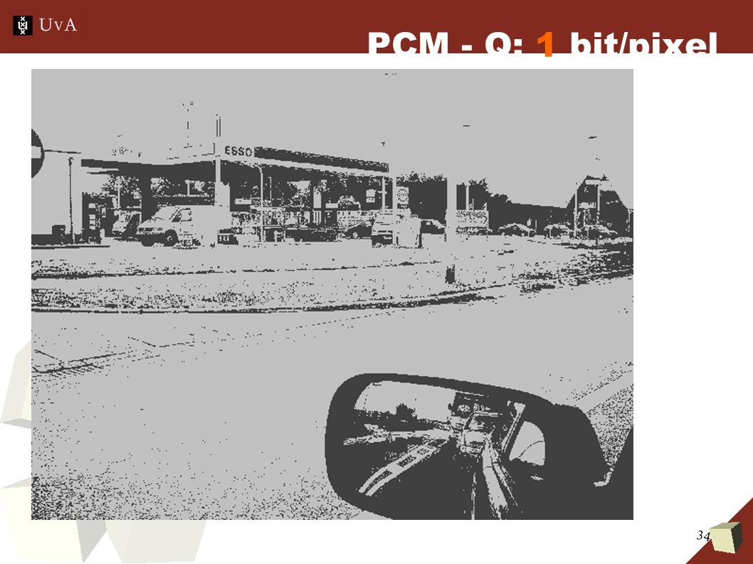 34 PCM - Q: 1 bit/pixel