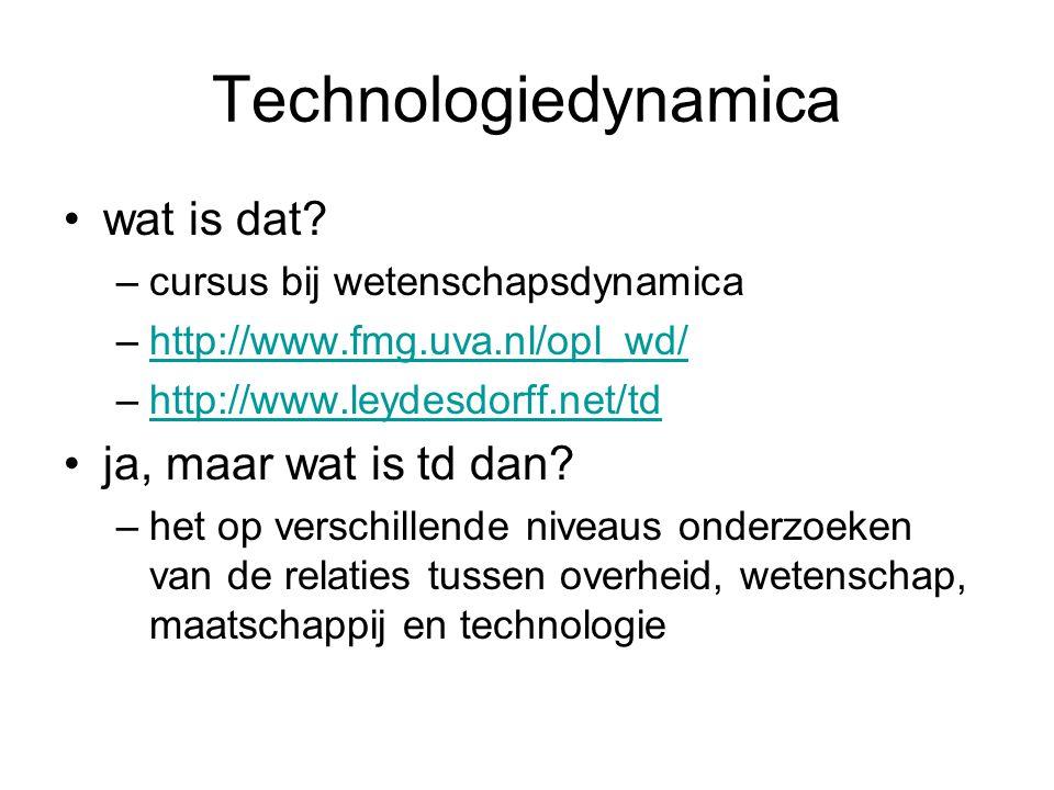 Technologiedynamica wat is dat.