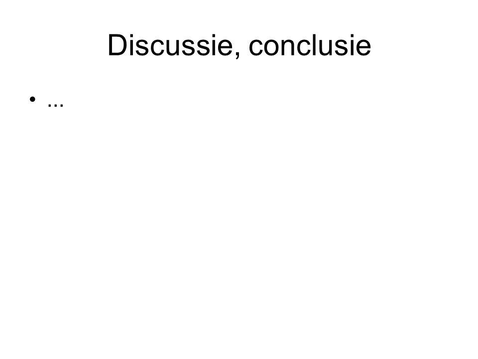 Discussie, conclusie...
