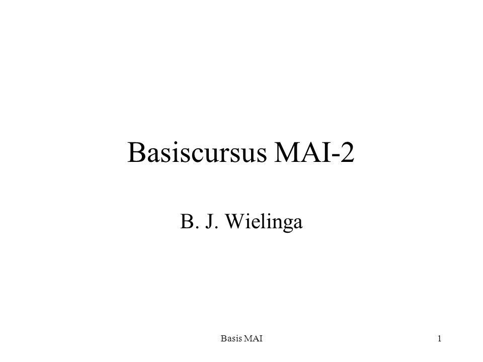 Basis MAI1 Basiscursus MAI-2 B. J. Wielinga