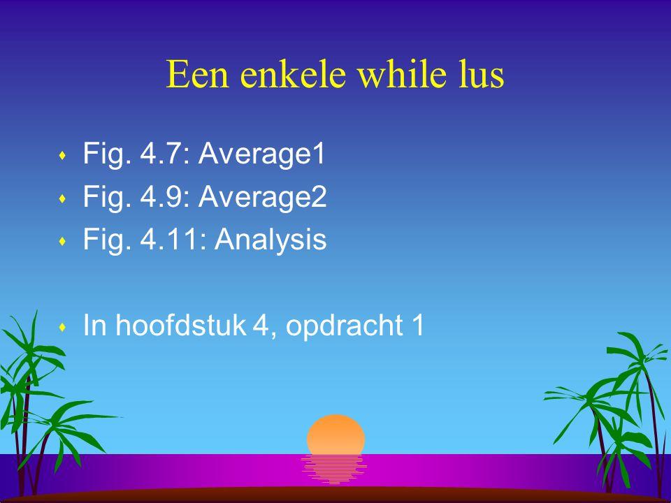 Een enkele while lus s Fig.4.7: Average1 s Fig. 4.9: Average2 s Fig.