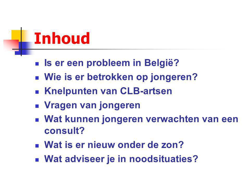 Inhoud Is er een probleem in België.Wie is er betrokken op jongeren.
