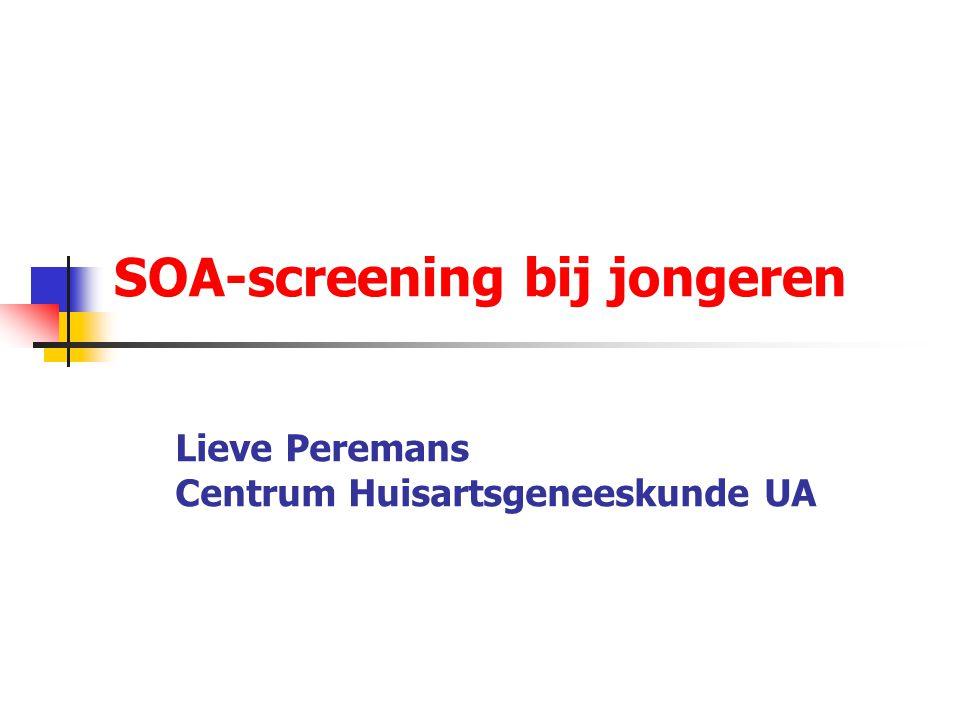 SOA-screening bij jongeren Lieve Peremans Centrum Huisartsgeneeskunde UA