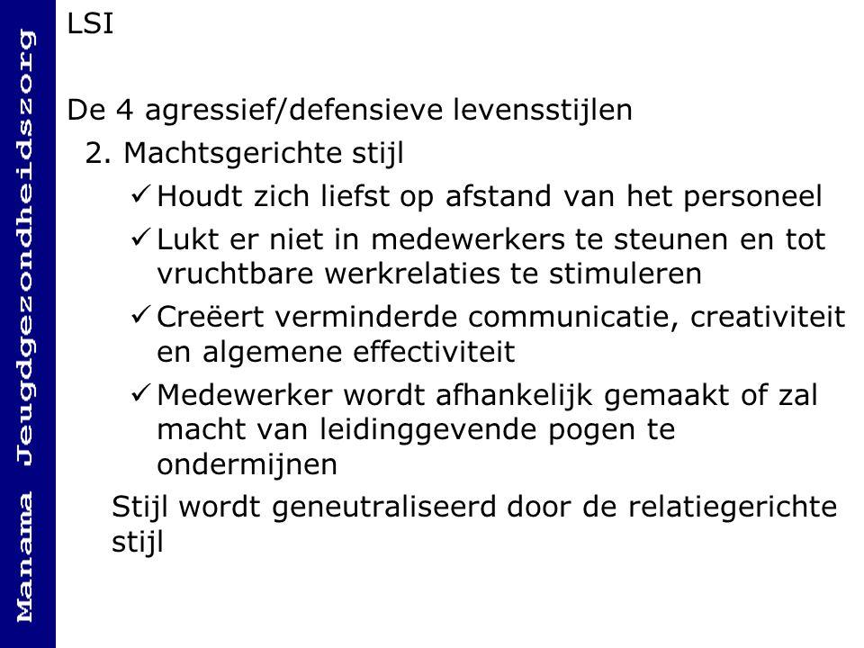 LSI De 4 agressief/defensieve levensstijlen 2.