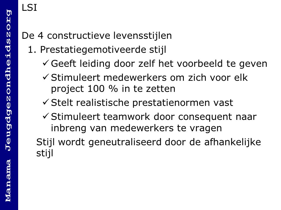 LSI De 4 constructieve levensstijlen 1.
