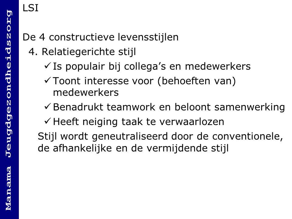 LSI De 4 constructieve levensstijlen 4.