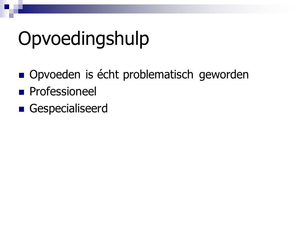 Opvoedingshulp Opvoeden is écht problematisch geworden Professioneel Gespecialiseerd
