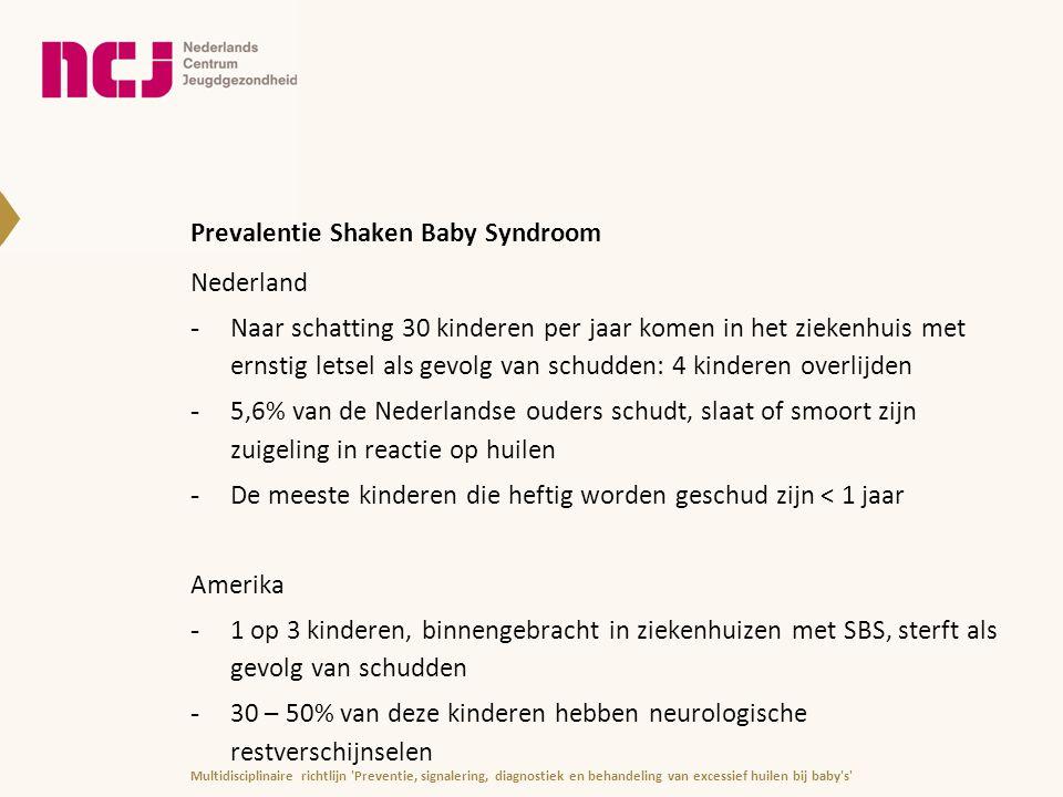 Prevalentie Shaken Baby Syndroom Nederland -Naar schatting 30 kinderen per jaar komen in het ziekenhuis met ernstig letsel als gevolg van schudden: 4