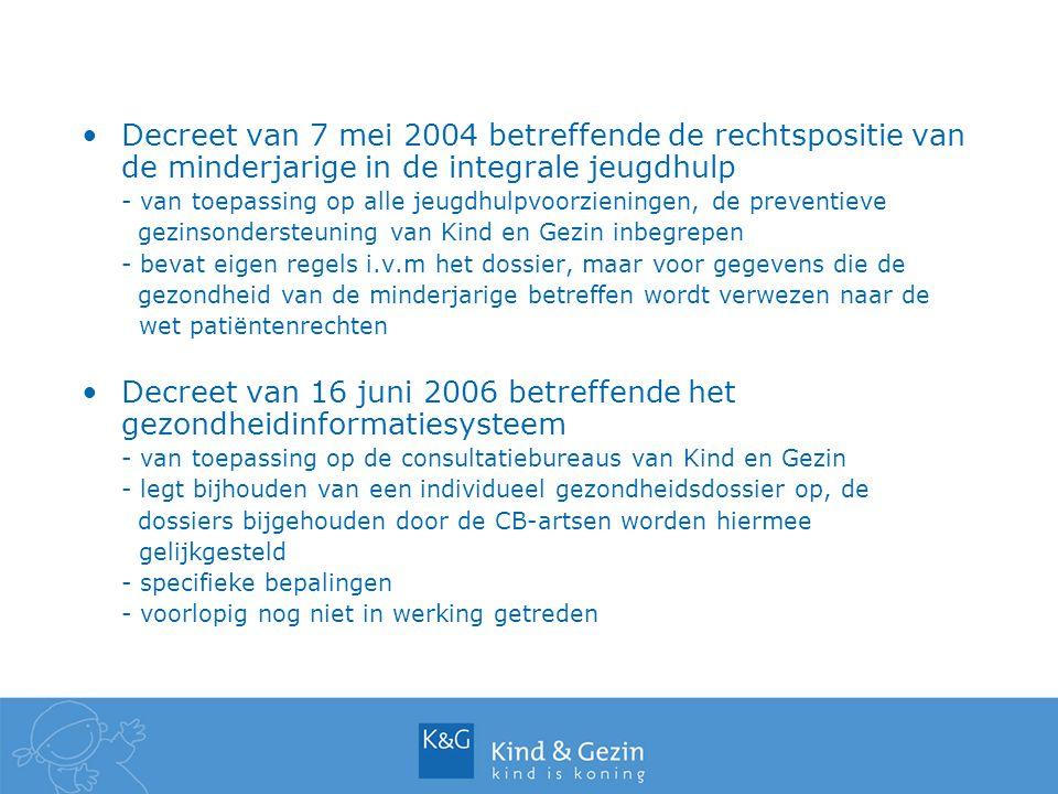 Decreet van 7 mei 2004 betreffende de rechtspositie van de minderjarige in de integrale jeugdhulp - van toepassing op alle jeugdhulpvoorzieningen, de