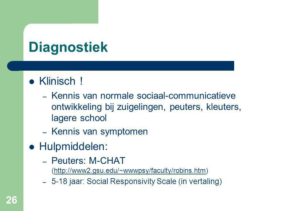 26 Diagnostiek Klinisch .