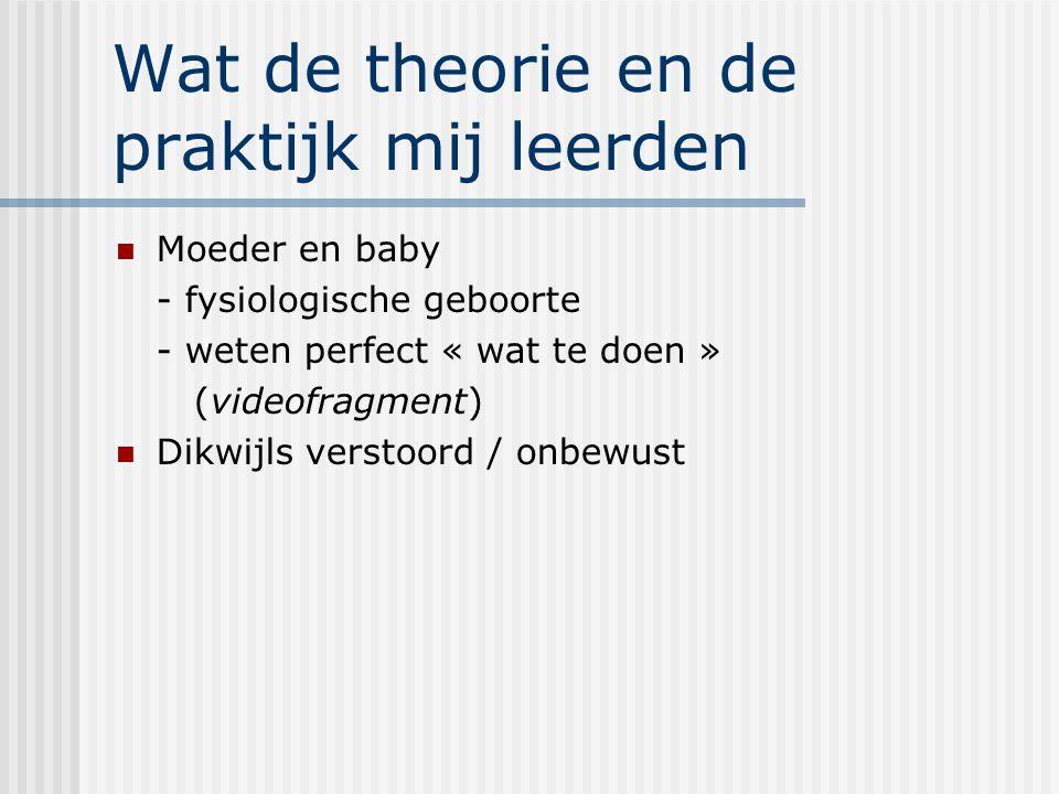 Hormonaal geregeld Oxytocine  genereert moederl.