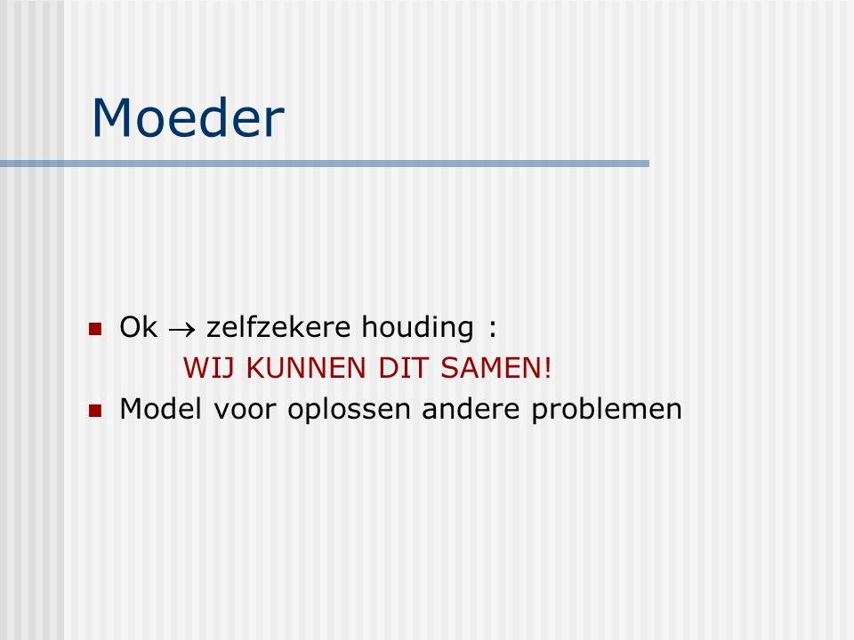 Moeder Ok  zelfzekere houding : WIJ KUNNEN DIT SAMEN! Model voor oplossen andere problemen