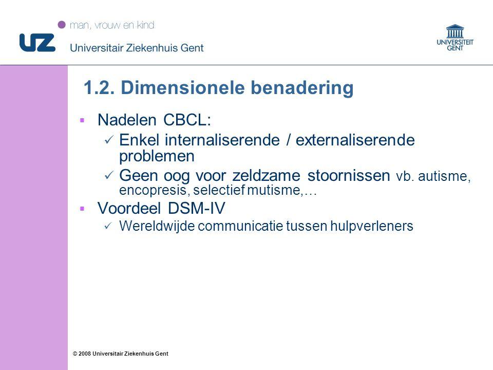 11 © 2008 Universitair Ziekenhuis Gent 1.2.