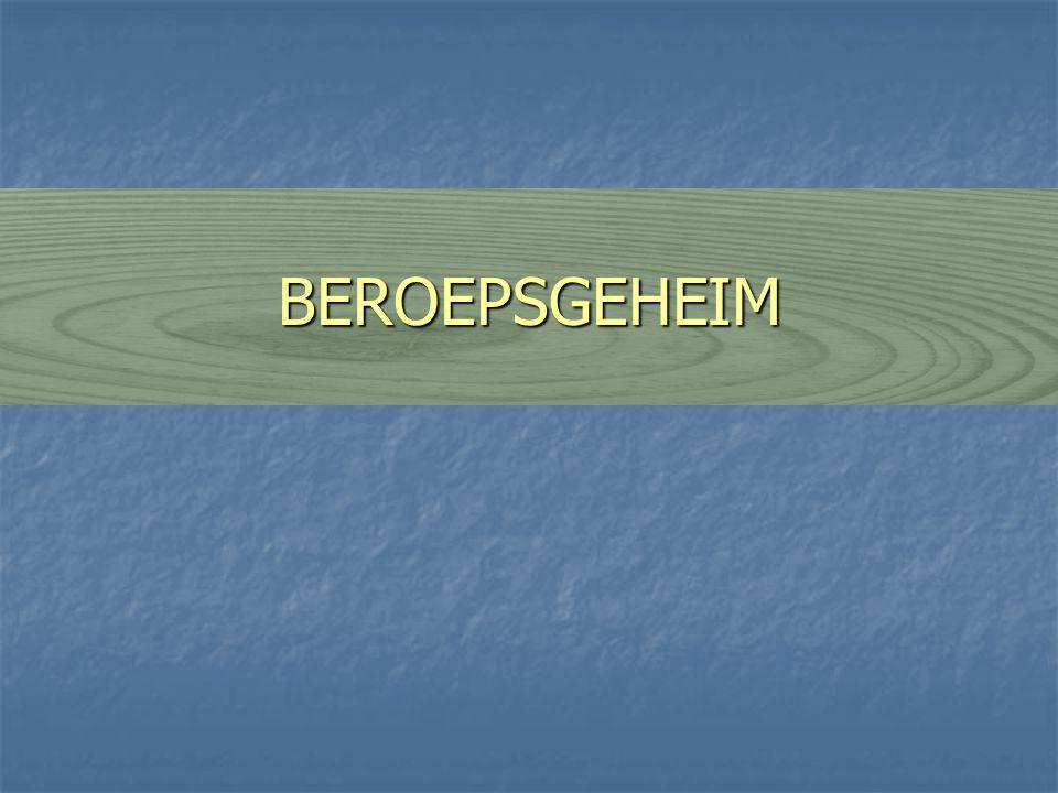 BEROEPSGEHEIM