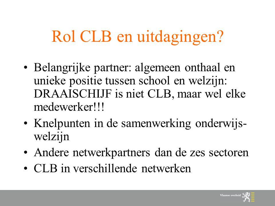 Rol CLB en uitdagingen.