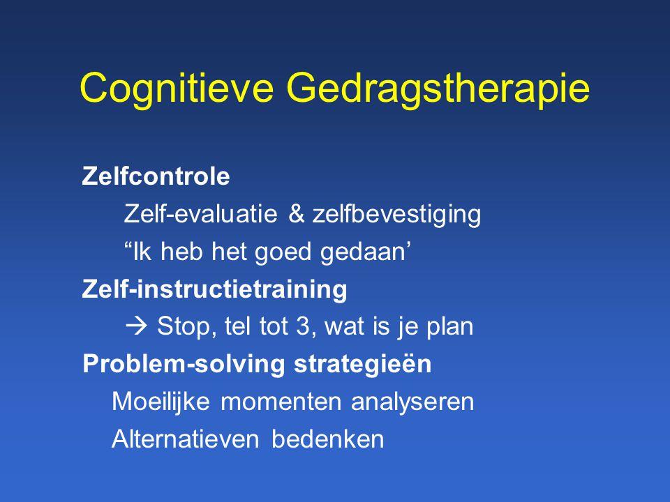 """Cognitieve Gedragstherapie Zelfcontrole Zelf-evaluatie & zelfbevestiging """"Ik heb het goed gedaan' Zelf-instructietraining  Stop, tel tot 3, wat is je"""