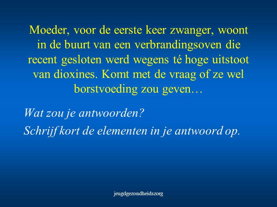 jeugdgezondheidszorg De Morgen, 29 april 2000: Moedermelk brengt de gezondheid ernstige schade toe