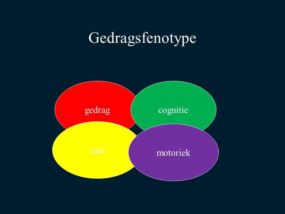 Gedragsfenotype gedragcognitie taal motoriek