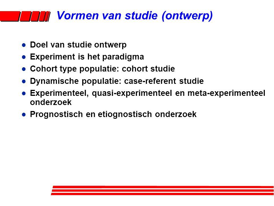 l Paradigma voor methoden ontwerp: experiment l Vb.