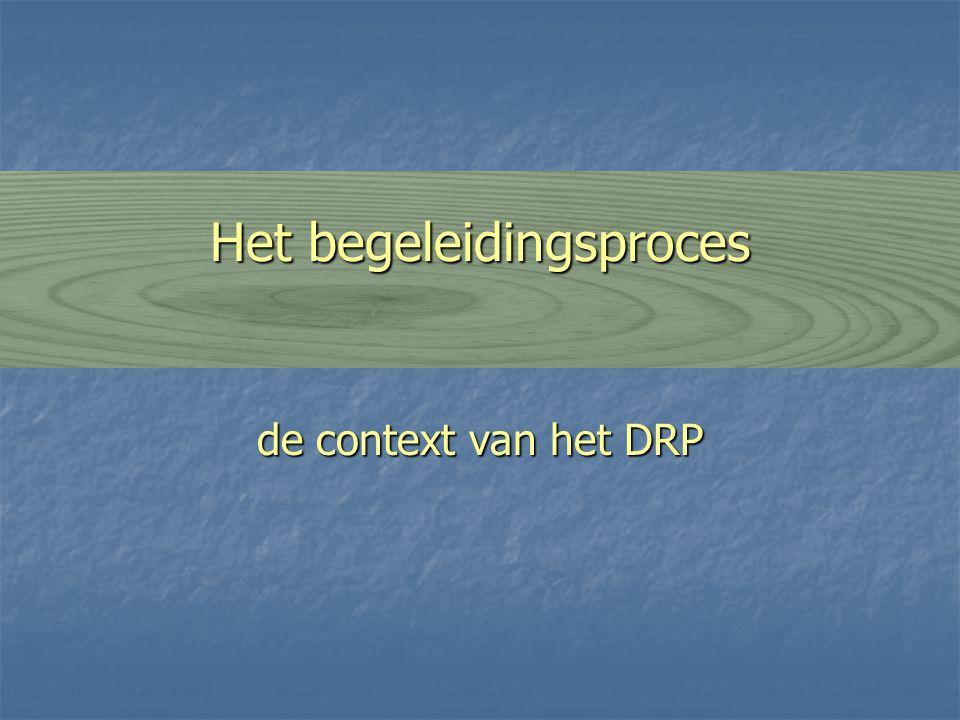Het begeleidingsproces de context van het DRP