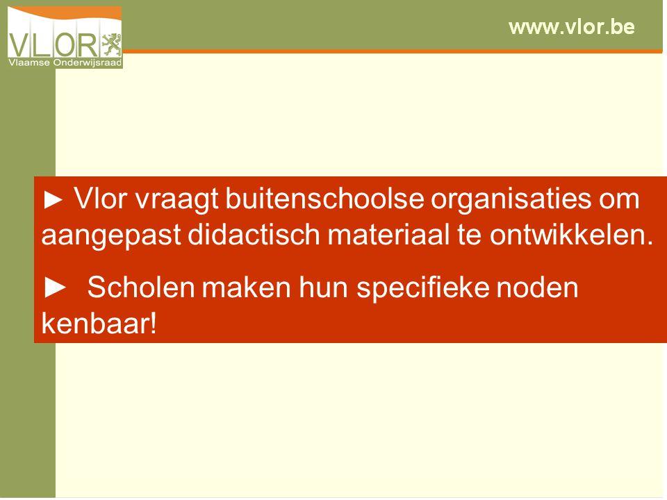 ► Vlor vraagt buitenschoolse organisaties om aangepast didactisch materiaal te ontwikkelen.