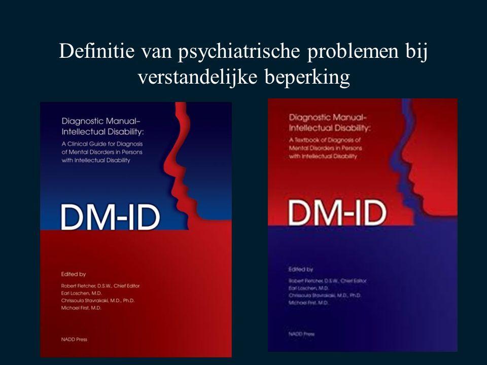 Definitie van psychiatrische problemen bij verstandelijke beperking