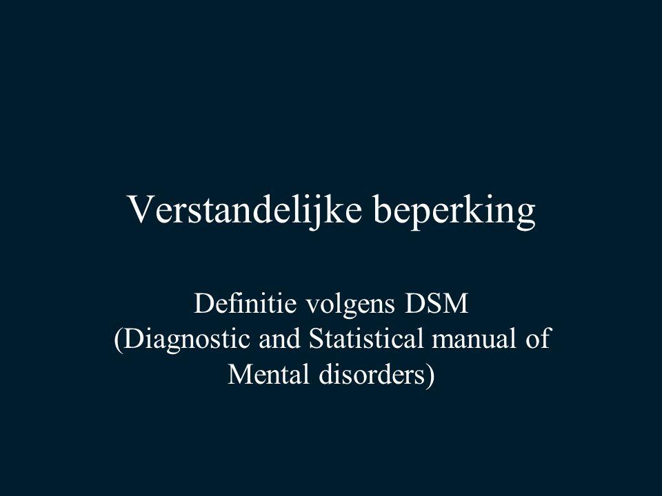 DSM Eerts helft twintigste eeuw: grote internationale spraakverwarring in de literatuur over psychische aandoeningen.