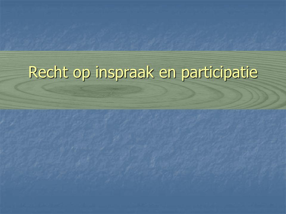 Recht op inspraak en participatie