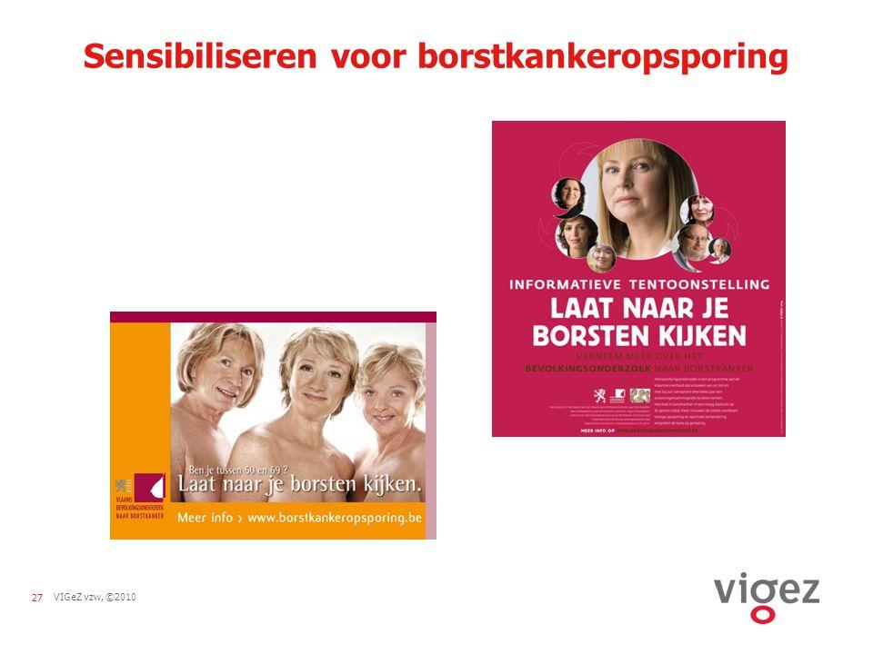 27VIGeZ vzw, ©2010 Sensibiliseren voor borstkankeropsporing