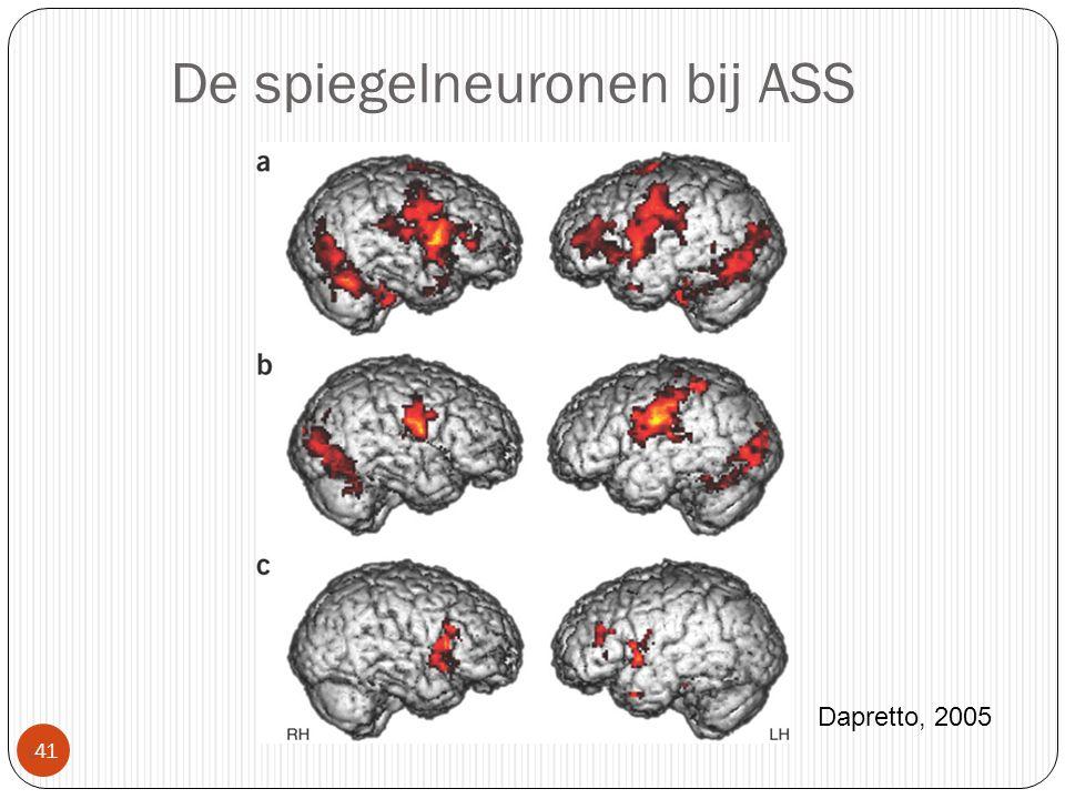 De spiegelneuronen bij ASS  41 Dapretto, 2005