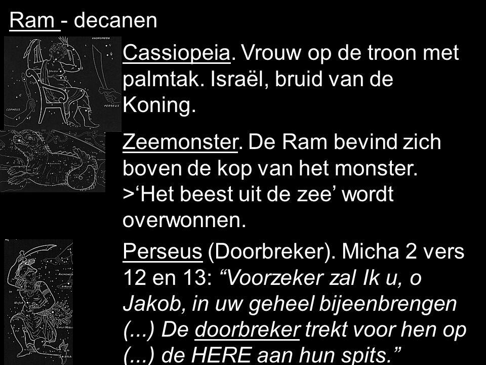 2-de boek - 4-de teken - Ram Ram, offerdier, trots afgebeeld met hoorns (koningschap). Dit sterrenbeeld is de koppeling naar het derde 'boek'.