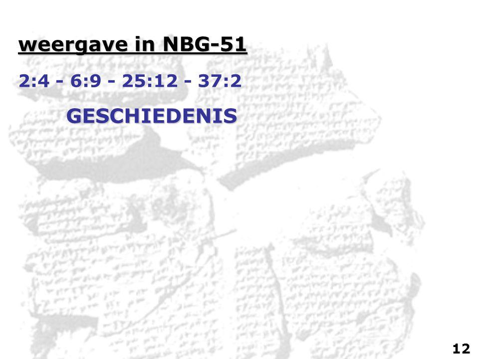 weergave in NBG-51 2:4 - 6:9 - 25:12 - 37:2GESCHIEDENIS 12
