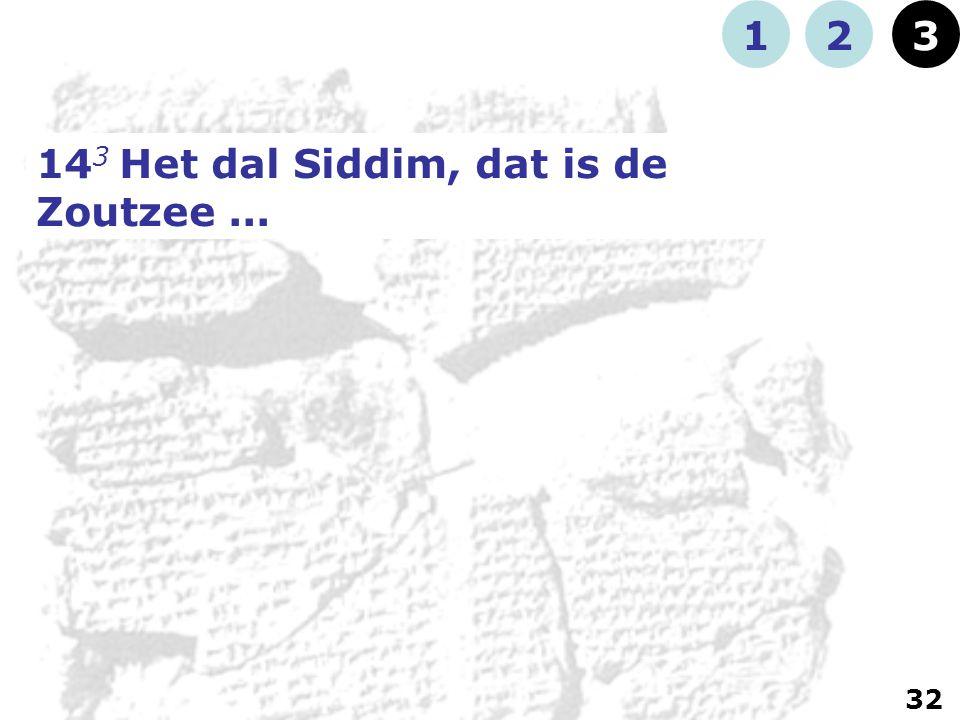 14 3 Het dal Siddim, dat is de Zoutzee... 123 32