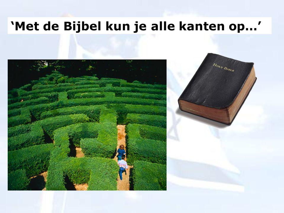 'Met de Bijbel kun je alle kanten op…'